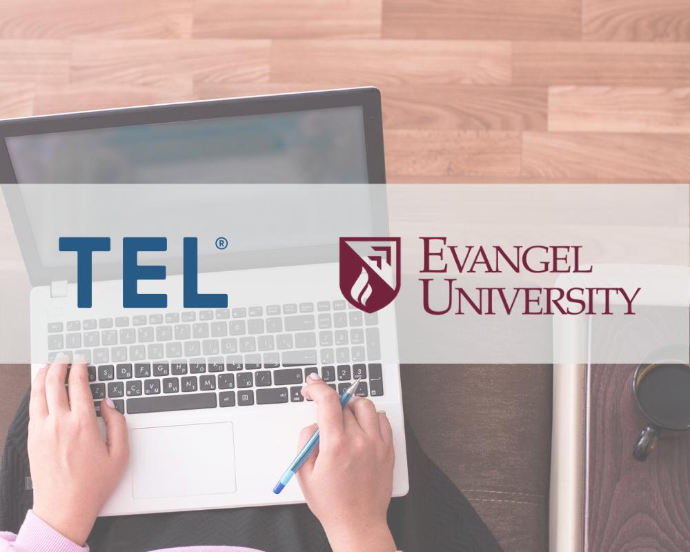 Evangel University and TEL logos