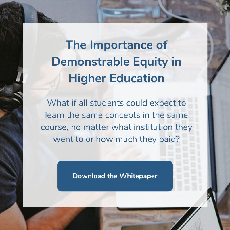 Download the Importance of Demonstrable Equity in Higher Education whitepaper