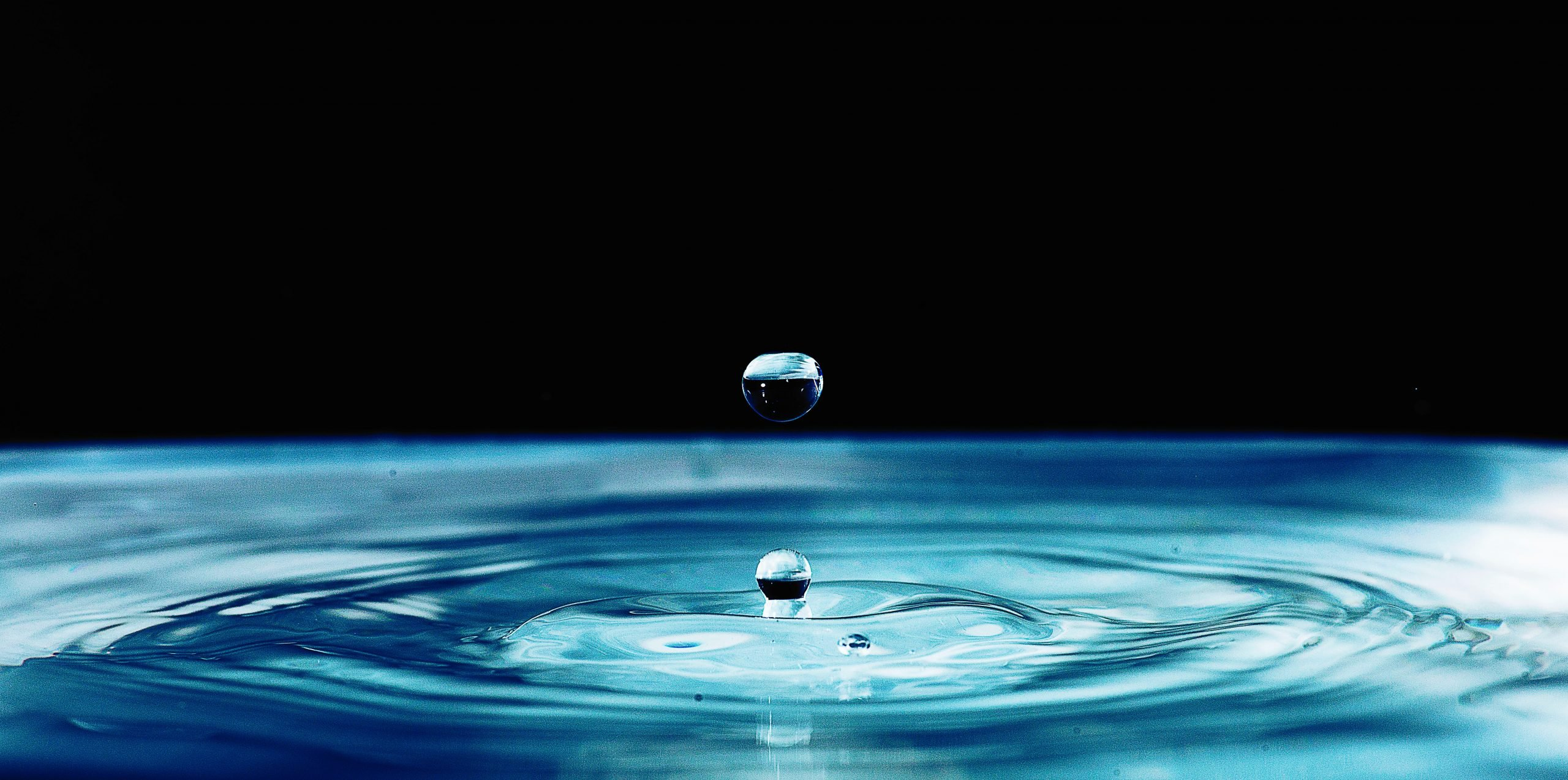 water droplets creating ripples